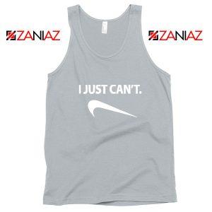 Funny Parody Slogan Nike Sport Grey Tank Top