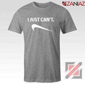 Funny Parody Slogan Nike Sport Grey Tshirt