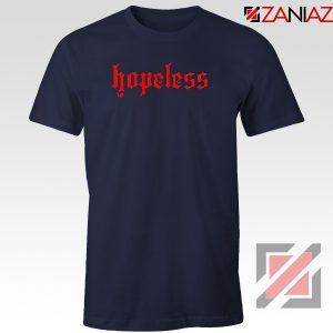 Hopeless Lyrics Navy Blue Tshirt