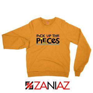 Hustle Man Pick Up The Pieces Orange Sweatshirt