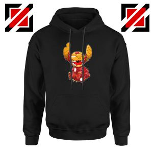 Iron Stitch Superhero Black Hoodie