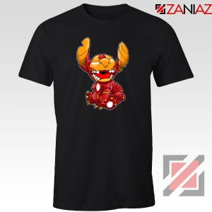 Iron Stitch Superhero Black Tshirt