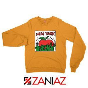 Keith Haring Graffiti New York Orange Sweatshirt