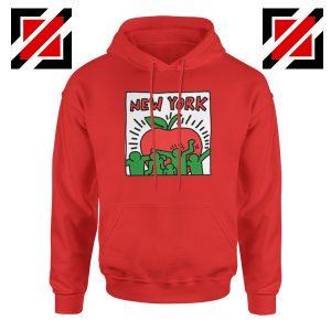 Keith Haring Graffiti New York Red Hoodie