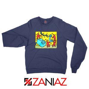 Keith Haring Visual Art Navy Blue Sweatshirt