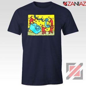 Keith Haring Visual Art Navy Blue Tshirt
