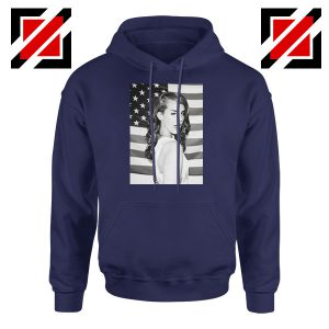 Lana Del Rey American Flag Navy Blue Hoodie