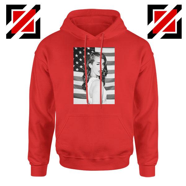 Lana Del Rey American Flag Red Hoodie