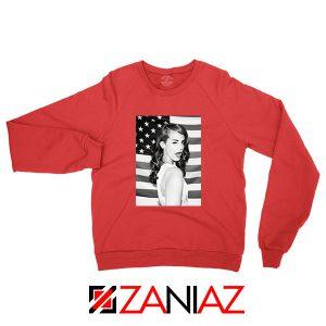 Lana Del Rey American Flag Red Sweatshirt