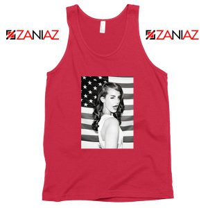 Lana Del Rey American Flag Red Tank Top