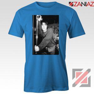 Liam Gallagher Singer Blue Tshirt