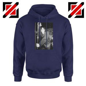 Liam Gallagher Singer Navy Blue Hoodie