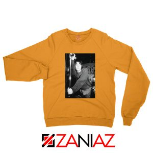 Liam Gallagher Singer Orange Sweatshirt