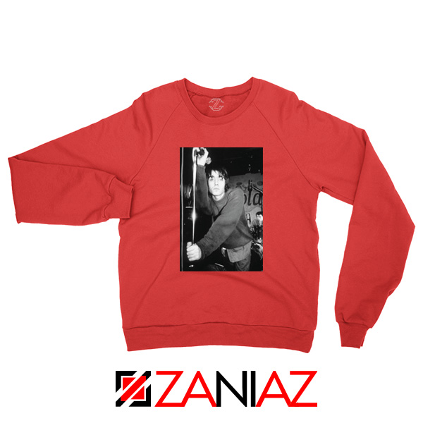 Liam Gallagher Singer Red Sweatshirt