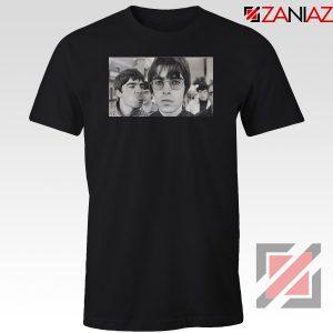 Liam and Noel Gallagher Black Tshirt