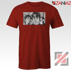 Liam and Noel Gallagher Red Tshirt