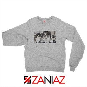 Liam and Noel Gallagher Sport Grey Sweatshirt