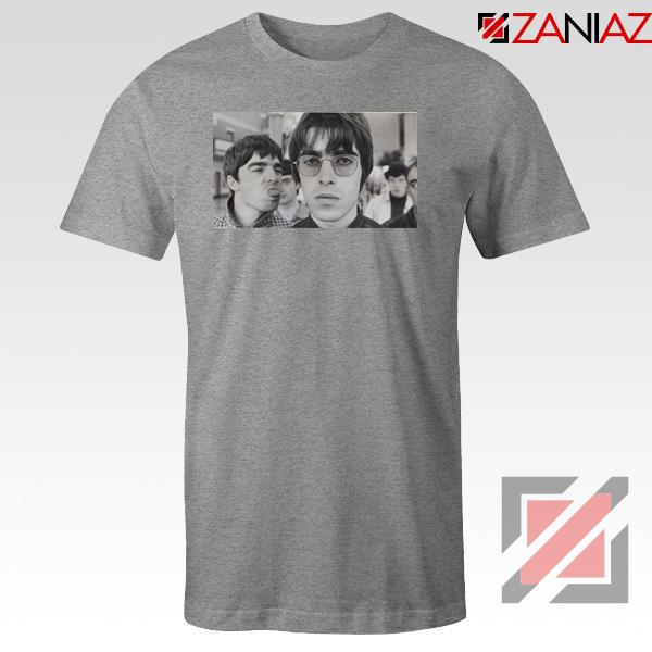 Liam and Noel Gallagher Sport Grey Tshirt