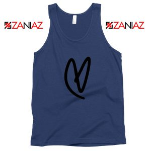 Lovatic Heart Navy Blue Tank Top