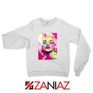 Marilyn Monroe White Sweatshirt