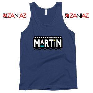 Martin Comedy Navy Blue Tank Top