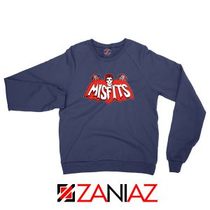 Misfits Music Band Navy Blue Sweatshirt