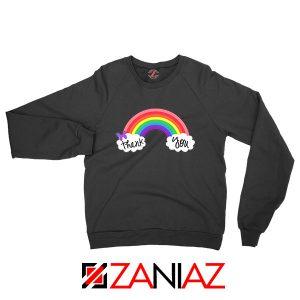 NHS Rainbow Thank You Black Sweatshirt