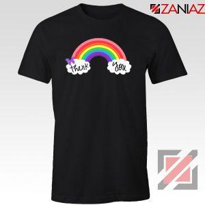 NHS Rainbow Thank You Black Tshirt