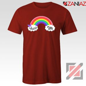 NHS Rainbow Thank You Red Tshirt