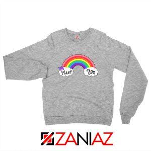 NHS Rainbow Thank You Sport Grey Sweatshirt