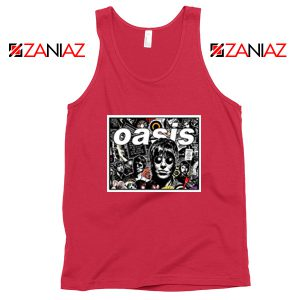 Oasis Band Collage Red Tank Top