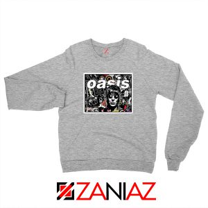 Oasis Band Collage Sport Grey Sweatshirt