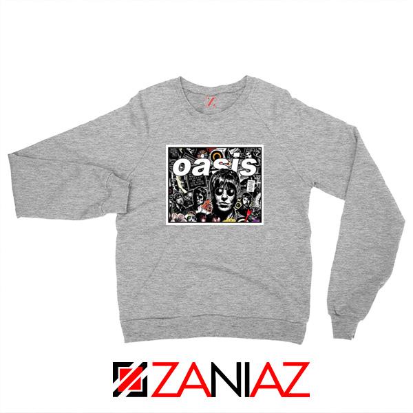 Oasis Band Collage Sport Grey Sweatshirt
