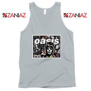 Oasis Band Collage Sport Grey Tank Top