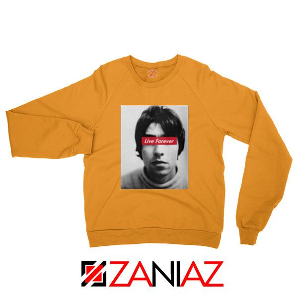 Oasis Band Live Forever Orange Sweatshirt