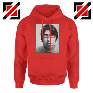 Oasis Band Live Forever Red Hoodie