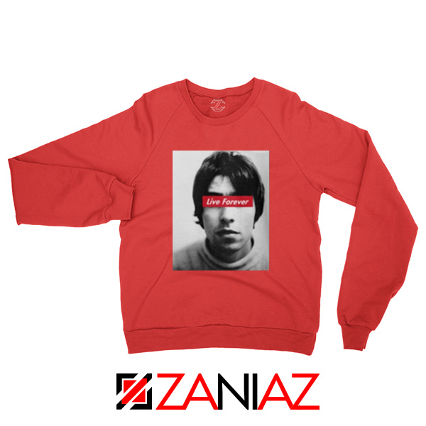 Oasis Band Live Forever Red Sweatshirt