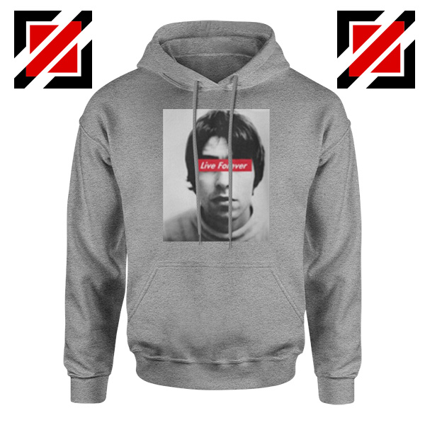 Oasis Band Live Forever Sport Grey Hoodie