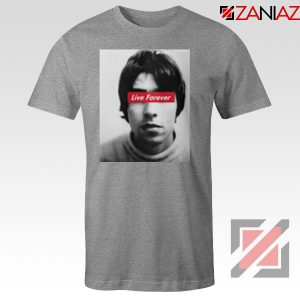 Oasis Band Live Forever Sport Grey Tshirt