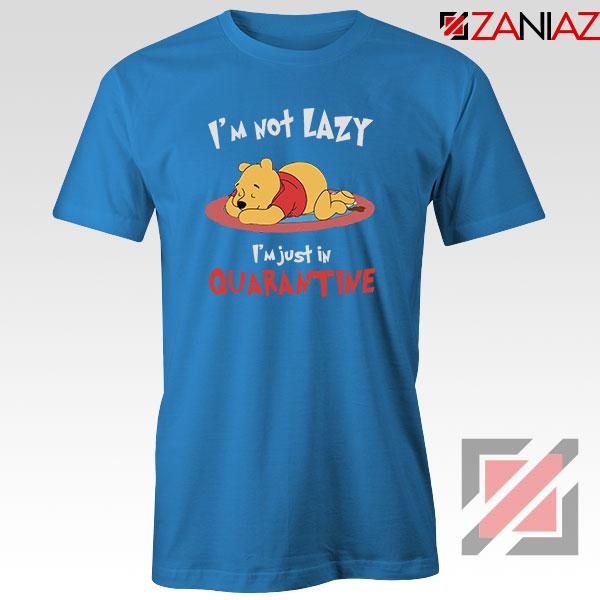 Pooh Quarantine Blue Tshirt