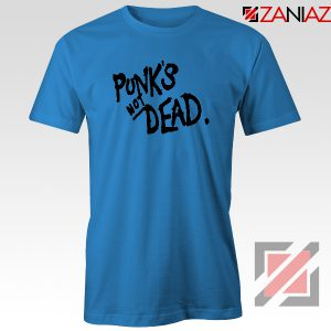 Punk's Not Dead Blue Tshirt