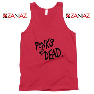 Punk's Not Dead Red Tank Top