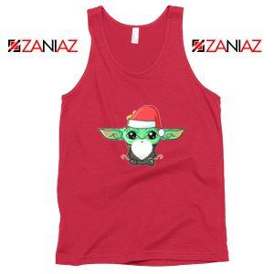 Santa Baby Yoda Red Tank Top