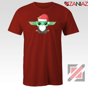 Santa Baby Yoda Red Tshirt