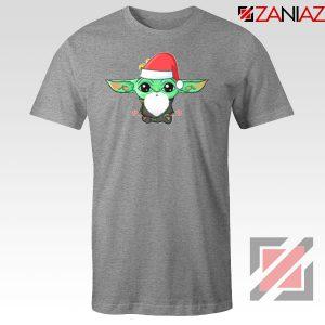 Santa Baby Yoda Sport Grey Tshirt