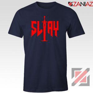 Slay Doom Navy Blue Tshirt