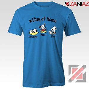Snoopy Stay Home Blue Tshirt