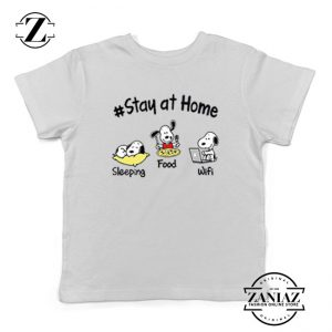 Snoopy Stay Home Kids Tshirt