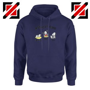 Snoopy Stay Home Navy Blue Hoodie