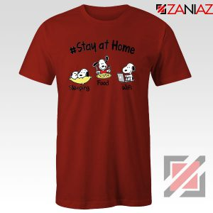 Snoopy Stay Home Red Tshirt